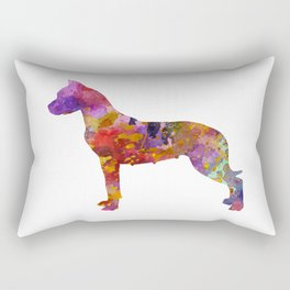 Dogo Argentino in watercolor Rectangular Pillow