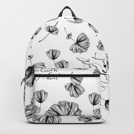 Floral Grow with your heart Backpack
