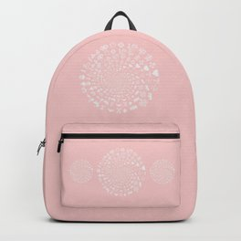 Rose Quartz Love Symbols Mandala Backpack