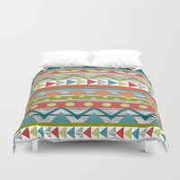 aztec Duvet Covers featuring Aztec. by Tayler Willcox