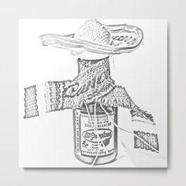 Hot Sauce - Chile Habanero Metal Print