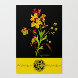 Flower Floral One Love One World 2 Canvas Print