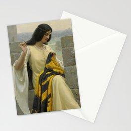 "Edmund Blair Leighton ""Stitching the Standard"" Stationery Cards"