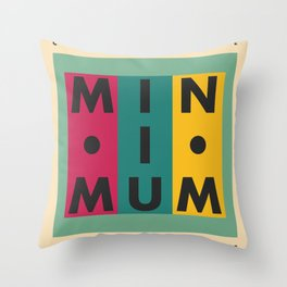 Vintage California // Minimum Throw Pillow