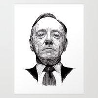 house of cards Art Prints featuring House of Cards - Francis Underwood by Rik Reimert