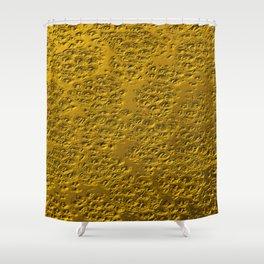 Damaged gold Shower Curtain