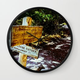 Blueberry Sign Wall Clock