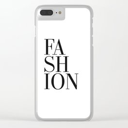 Print / Poster, 'Fashion', Wall Art, Modern Clear iPhone Case