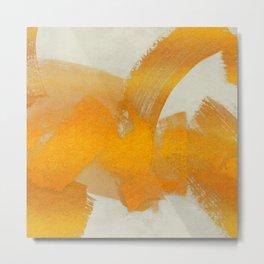 Brush stroke gold Metal Print
