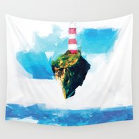 lighthouse Wall Tapestries featuring Lighthouse by Vadim Cherniy