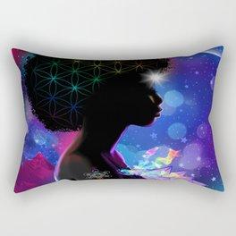 Cosmic Goddess Heart Chakra Rectangular Pillow