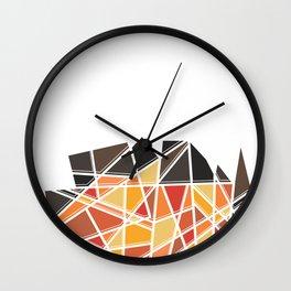 Ember Geo Wall Clock