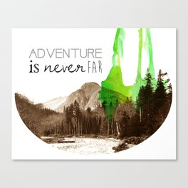 testing adventure Canvas Print