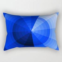 Monochromatic Blue Sphere Rectangular Pillow