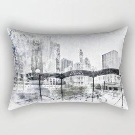 City Art CHICAGO Downtown Rectangular Pillow