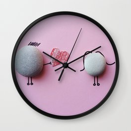 Stones Love Wall Clock