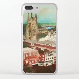 Tamworth, Staffordshire, England Impressionist Cityscape Fine Art Clear iPhone Case