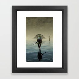 The hardest battle lies within (Shadow Variant) Framed Art Print