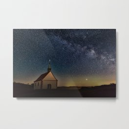 Mystic chapel under clear spangled sky Metal Print