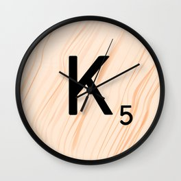 Scrabble Letter K - Large Scrabble Tiles Wall Clock