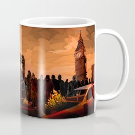 10th Doctor trapped in the zombie land Coffee Mug