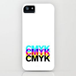 CMYK ON WH iPhone Case