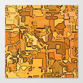 Abstract segmented 5 Canvas Print