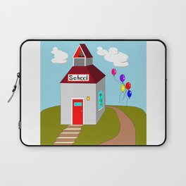 An Ole School House with Balloons Laptop Sleeve