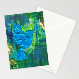 Humming Bird - Blue and Green Stationery Cards