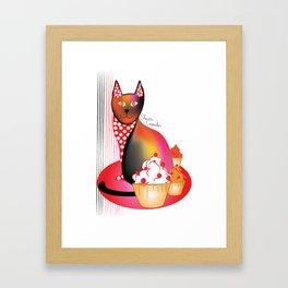 Charlie Cupcakes Framed Art Print