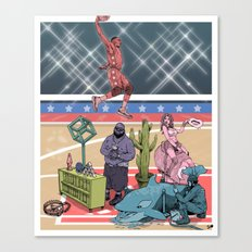 The Dunk Contest Canvas Print