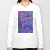lost in translation Long Sleeve T-shirts featuring Lost In Translation - Glitch by Esteban Corte