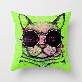 SPEECHLESS Throw Pillow