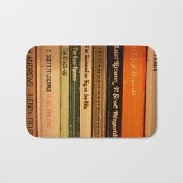 Book Spines Bath Mat