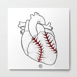 I Heart Baseball Metal Print