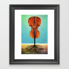 Rooted sound. Framed Art Print