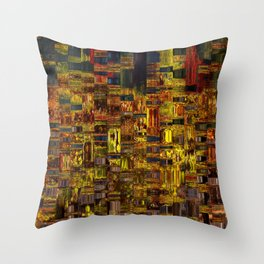 Colors of the City Throw Pillow