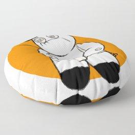 Patchwork Orange Floor Pillow