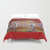 bull Duvet Covers featuring Bull  by creative kids