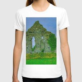 Irish Church Ruins Print T-shirt
