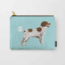 Brittany Spaniel dog breed funny dog fart Carry-All Pouch