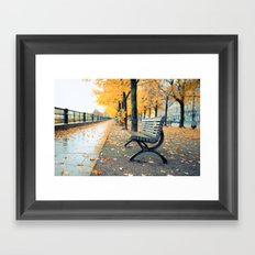 A lonely day for a walk Framed Art Print