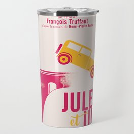 Jules et Jim, François Truffaut, minimal movie Poster, Jeanne Moreau, french film, nouvelle vague Travel Mug