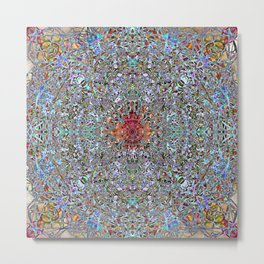 Sweet Enticing Self Centering Mandala Metal Print
