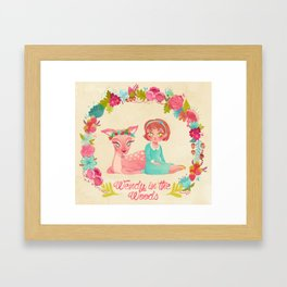Wendy in the Woods Framed Art Print
