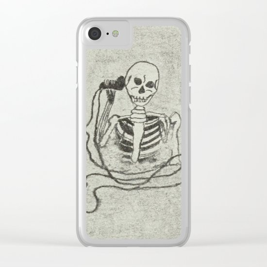 Skeleton's telephone. Clear iPhone Case