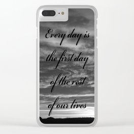 Forever Quote B&W Clear iPhone Case