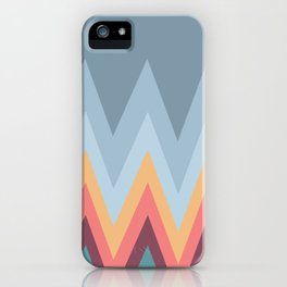 Retro Mountains iPhone Case