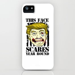 Anti Trump Zombie Political Halloween American Flag Light iPhone Case
