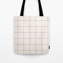 windowpane plaid Tote Bag